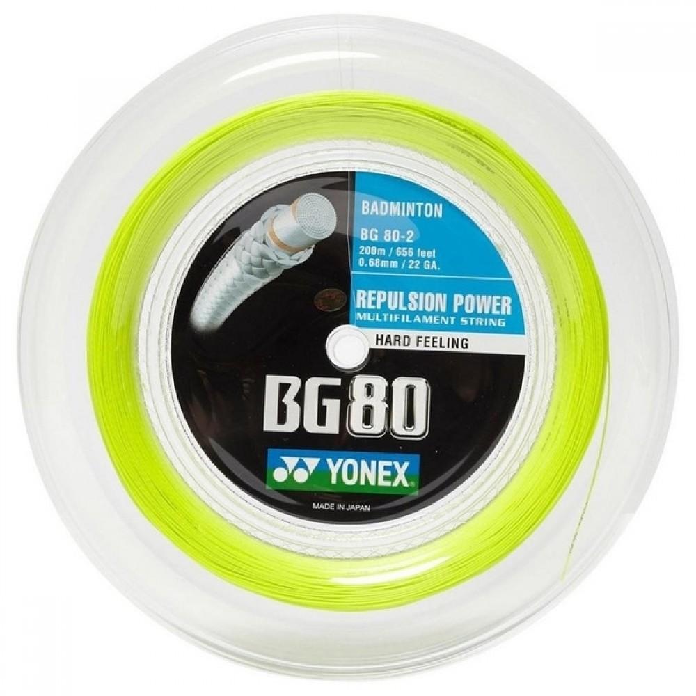 Yonex BG 80 Rulle Gul (200M)