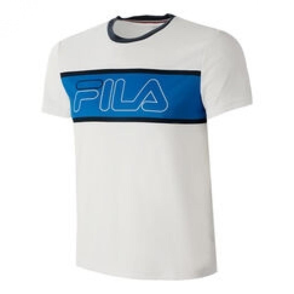 Fila T-Shirt Connor Hvid/Blå