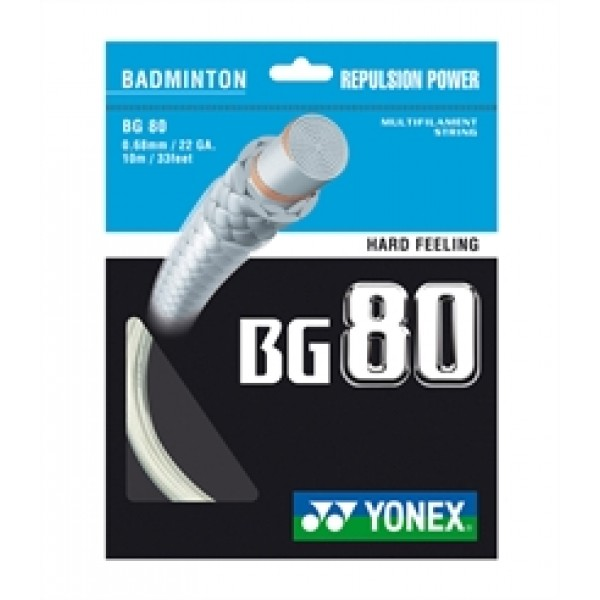 Yonex BG 80 (0,68mm, Gul,Blå,Hvid)-31