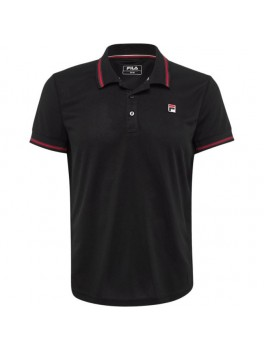 Fila Polo Button Piro Black-20