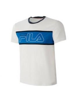 Fila T-Shirt Connor Hvid/Blå-20