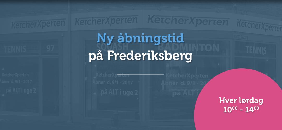 Ny åbningstid på Frederiksberg